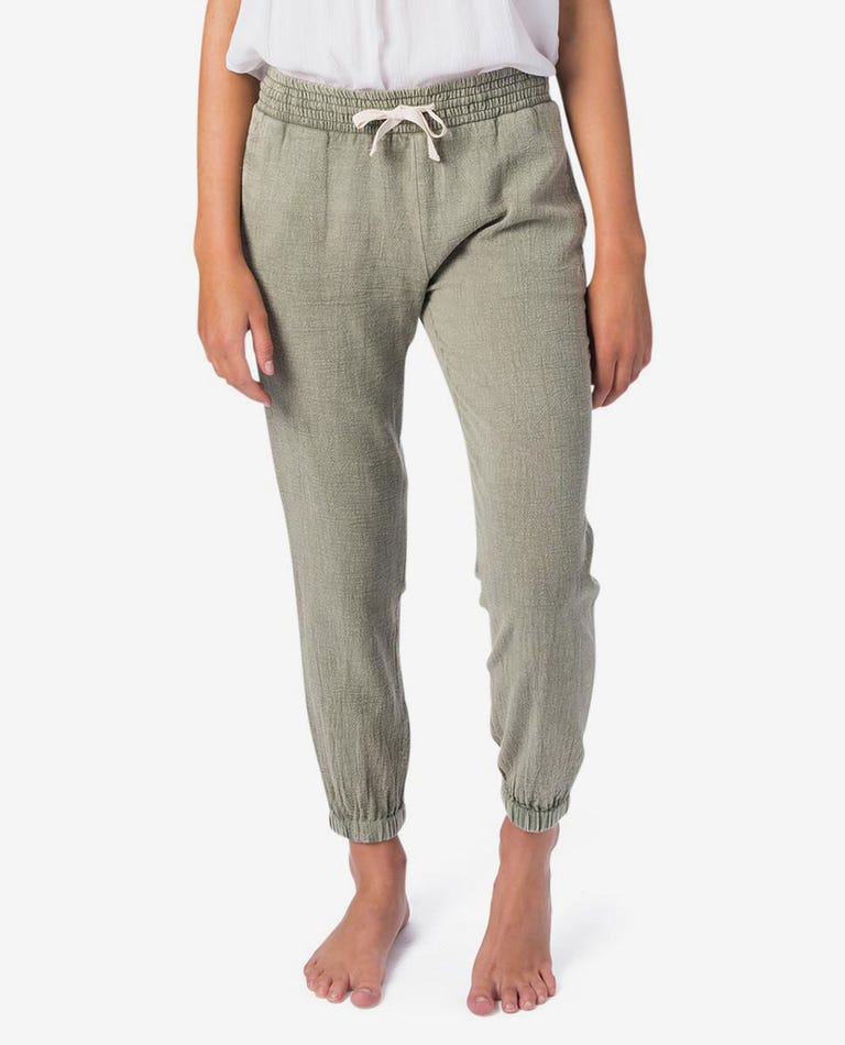Girl Classic Surf Pant in Army