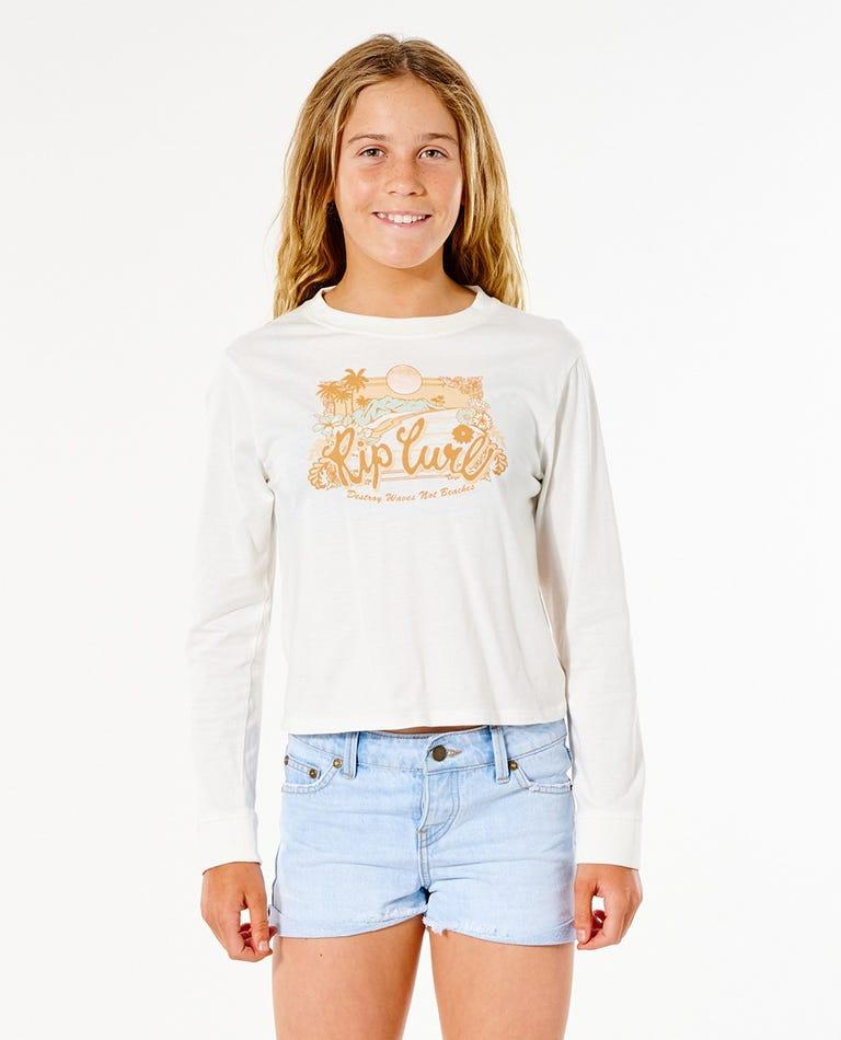 Surf Gypsy Long Sleeve Tee - Girl (8-16 years) in Bone