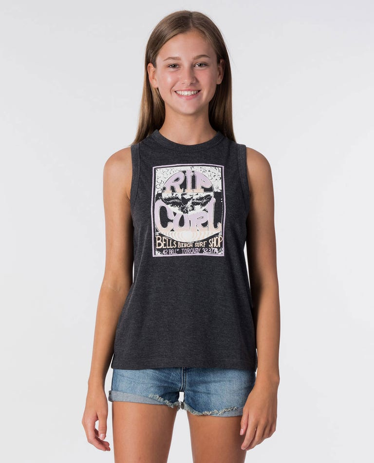 Girl Surf Shop Muscle in Black