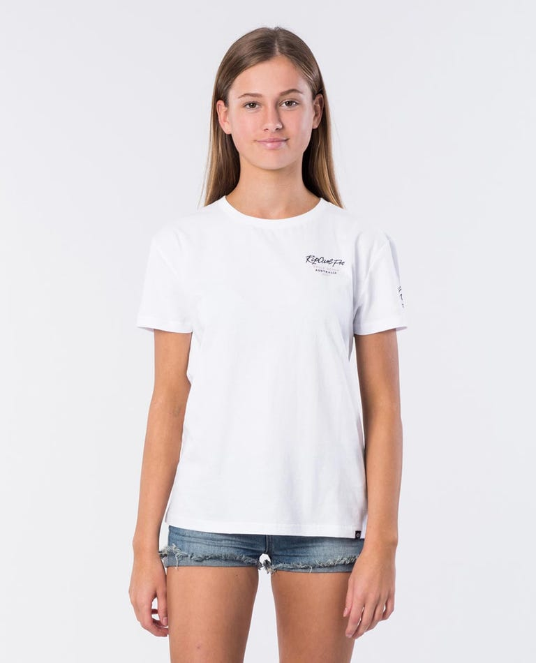 Girl Bells Cotton Tee in White