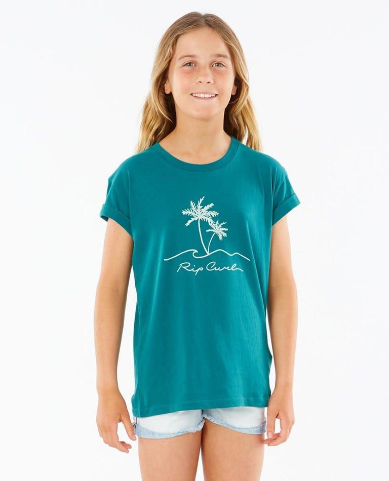 Sway Palm Tee Girls (8 - 16 years) in Jade