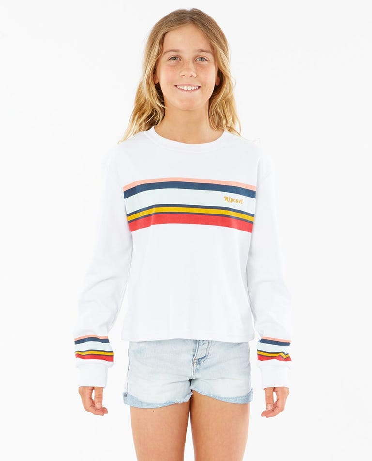 Revival Long Sleeve Tee  Girls (8 - 16 years) in White