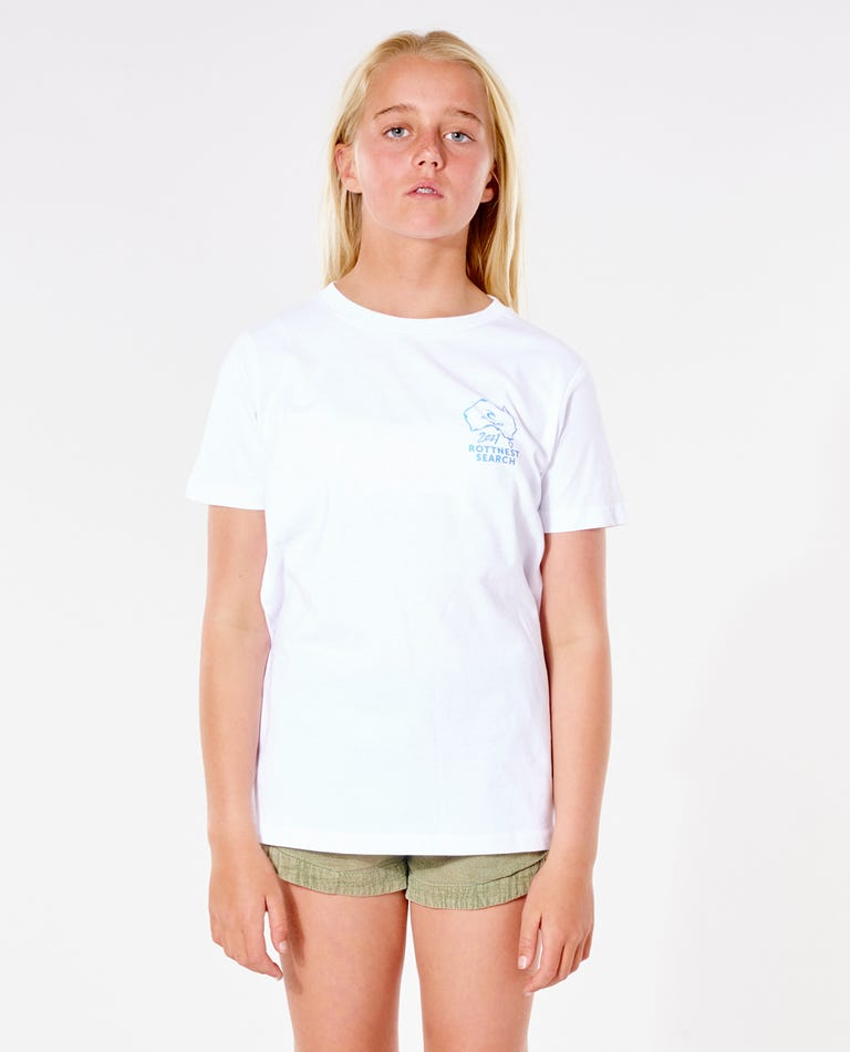 Girls Rotto Search Tee in White