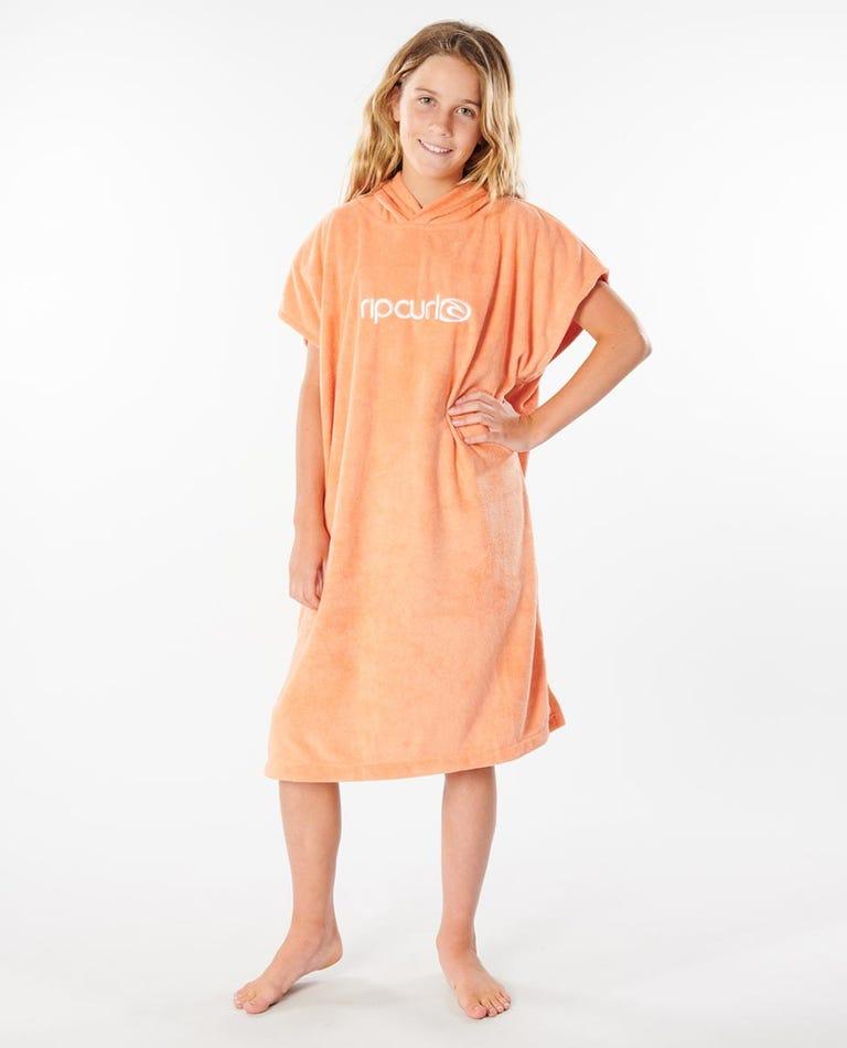 Hooded Towel Girls (8 - 16 years) in Coral