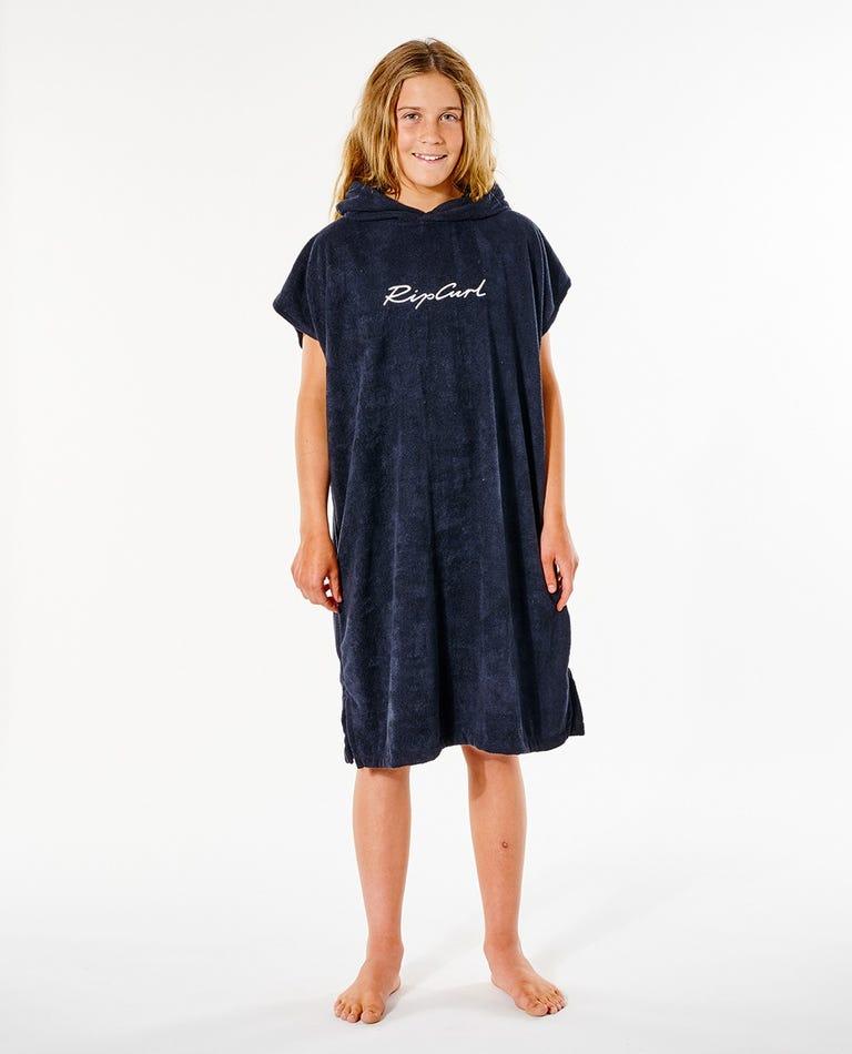 Script Hooded Towel - Girl in Black