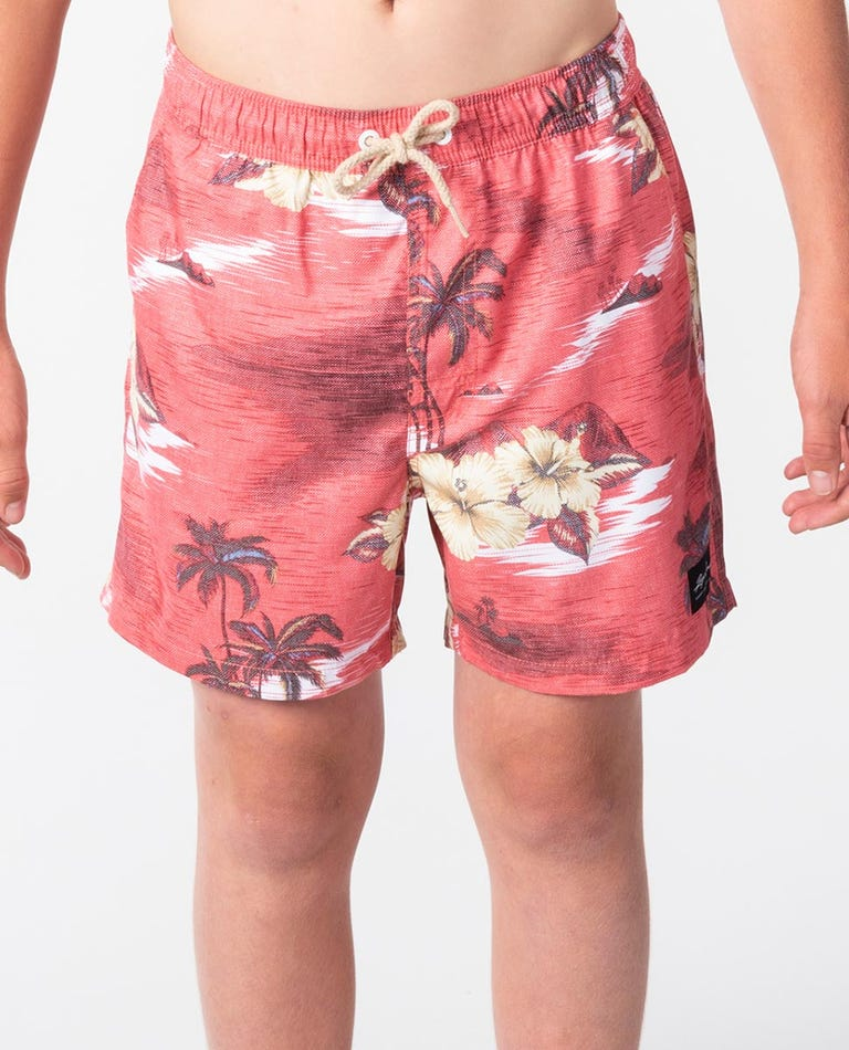 Dreamers Volley Boardshorts - Boys in Red