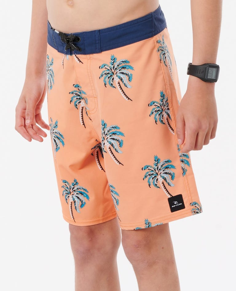 Boys Mirage Palm Daze 16 Boardshorts in Apricot