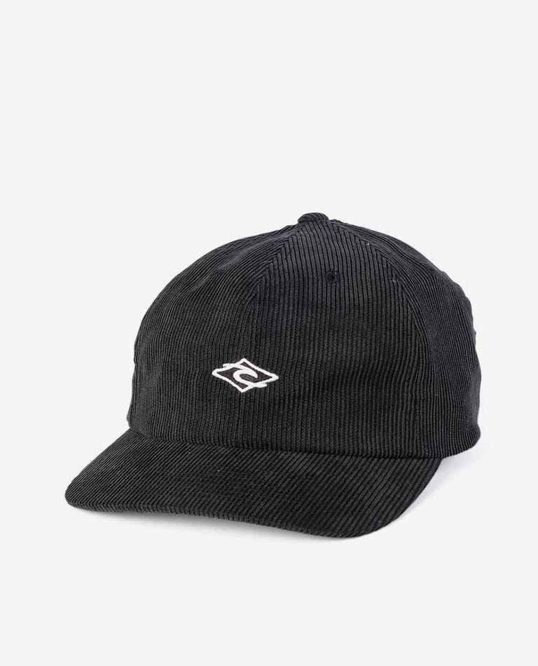 Diamond Cord Dad Cap - Boys in Washed Black
