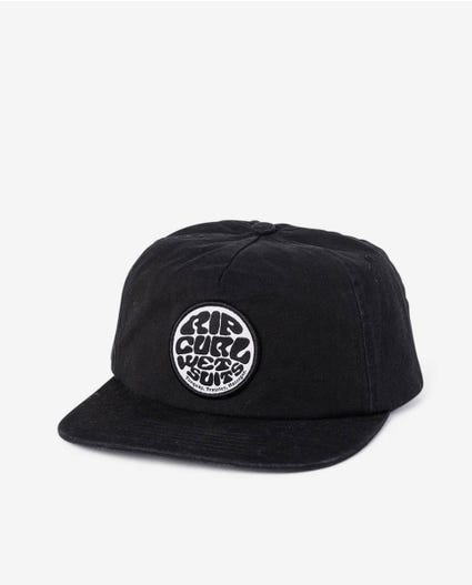 Washed Wetty Snap Back Cap - Boys in Washed Black