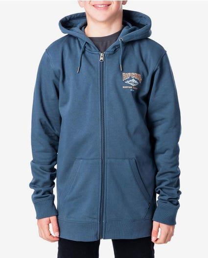 Scorcher Zip Thru Hood - Boys in Slate Blue