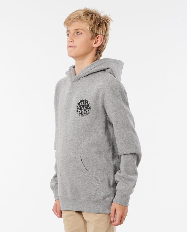 Wetty Mono Hood - Boys (8 - 16 years) in Grey Marle