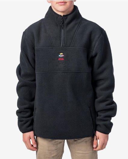 Search Polar Zip Thru Crew - Boys in Black