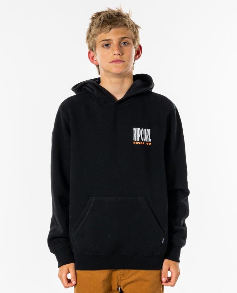Origins Hood - Boys (8-16 years) in Black