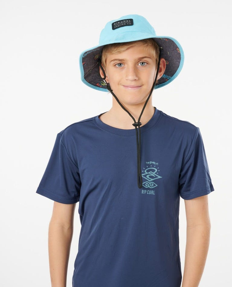 Reversible Valley Mid Brim Hat Boys (8 - 16 years) in Black/Blue