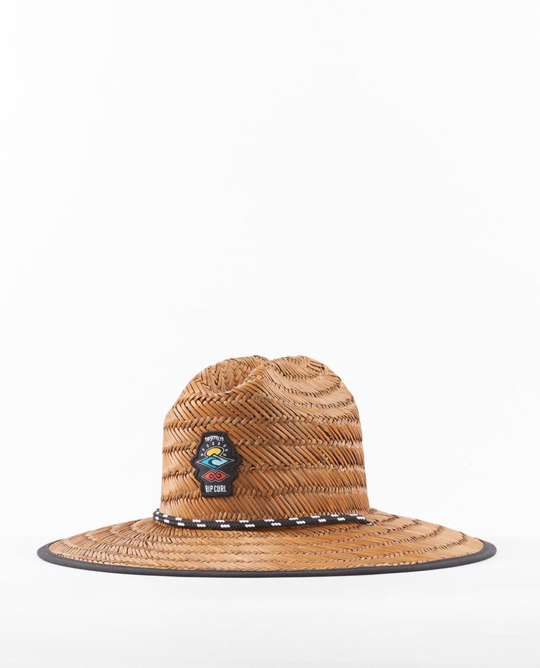 Boys Icons Straw Hat in Brown