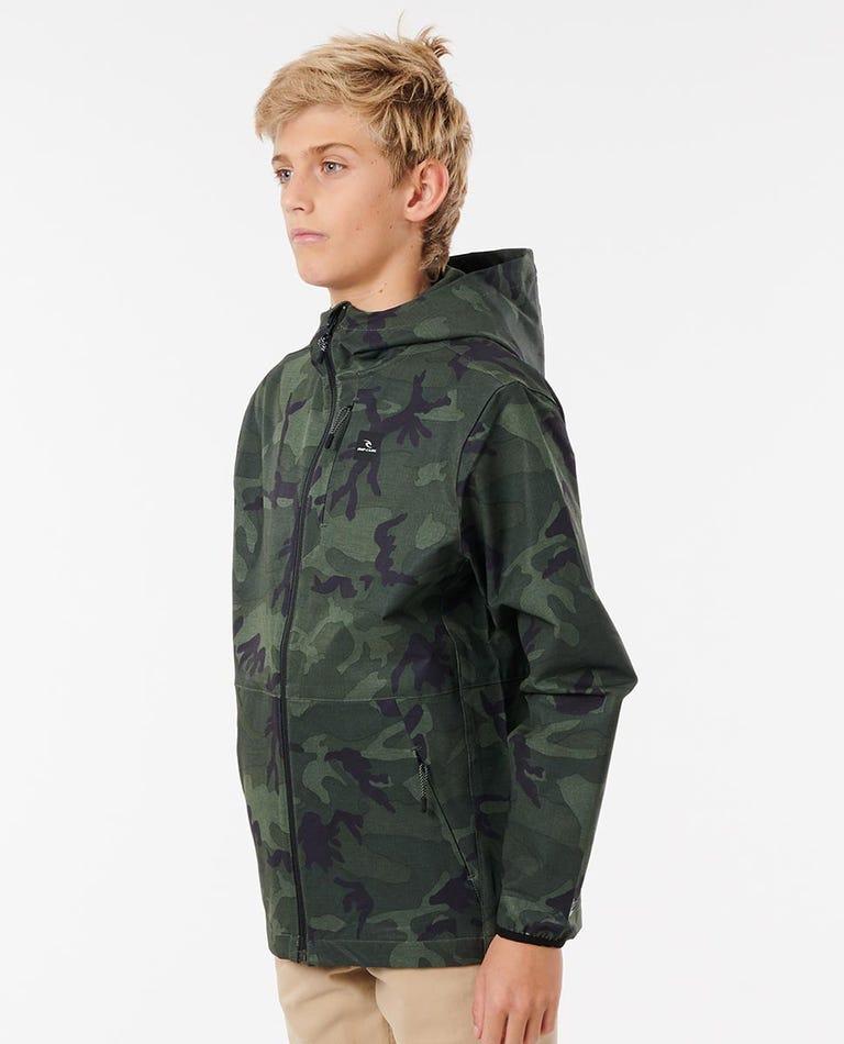 Boys Elite Anti Series Jacket in Camo