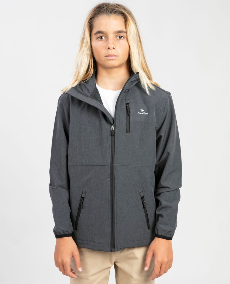 Boys Elite Anti Series Windbreaker Jacket in Black