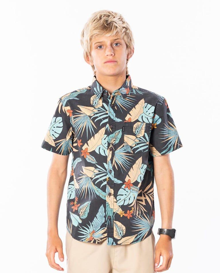Boys Visions Short Sleeve Shirt in Navy
