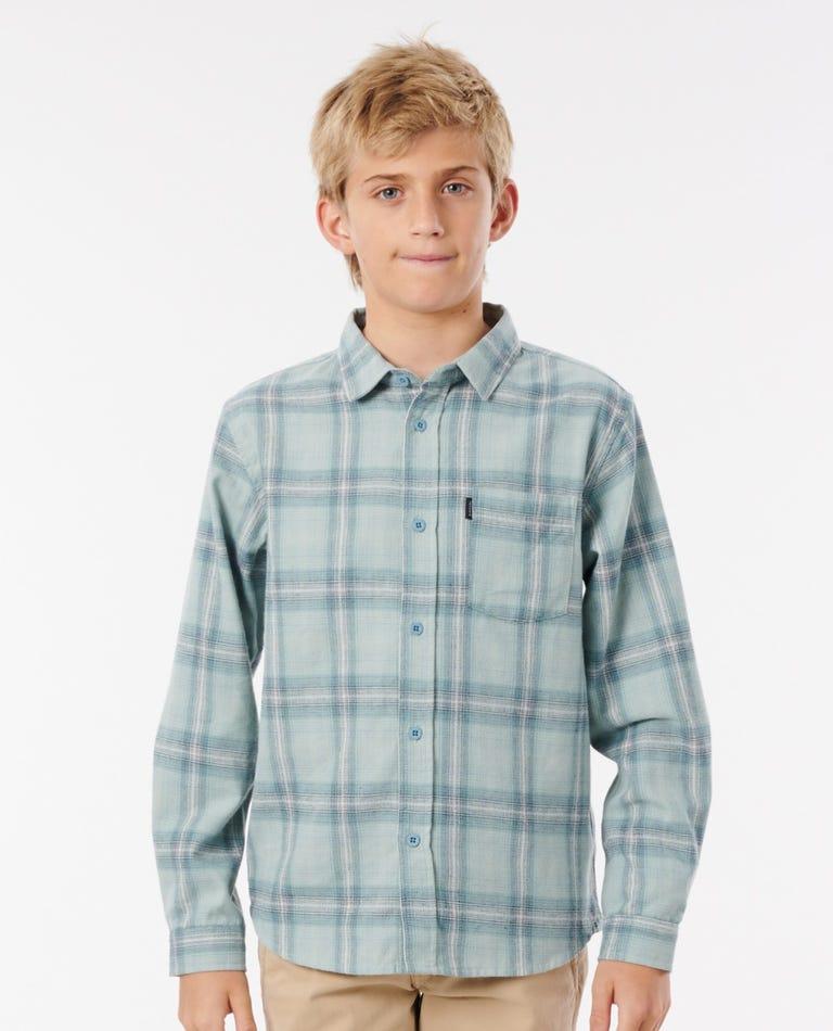 Feilding Flannel Shirt - Boys (8 - 16 years) in Light Blue