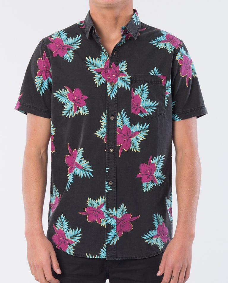 Savage Cove Short Sleeve Shirt- Boy in Black