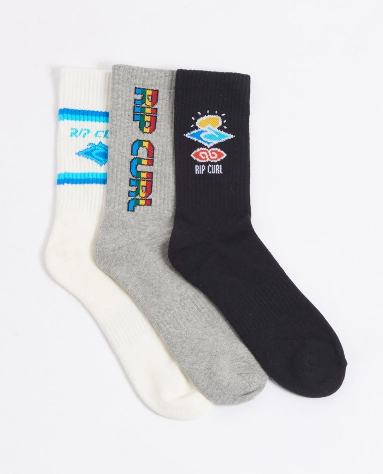 Icons Sock 3 Pack Boys (8-16 years) in Classic
