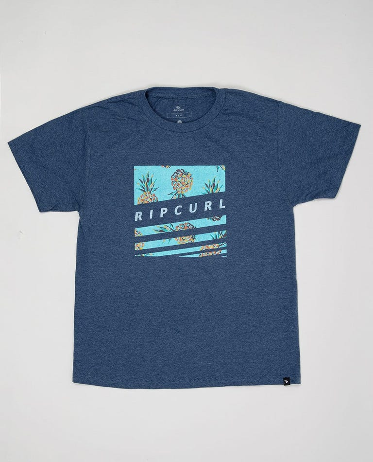 Boy's Recon Premium Tee in Navy