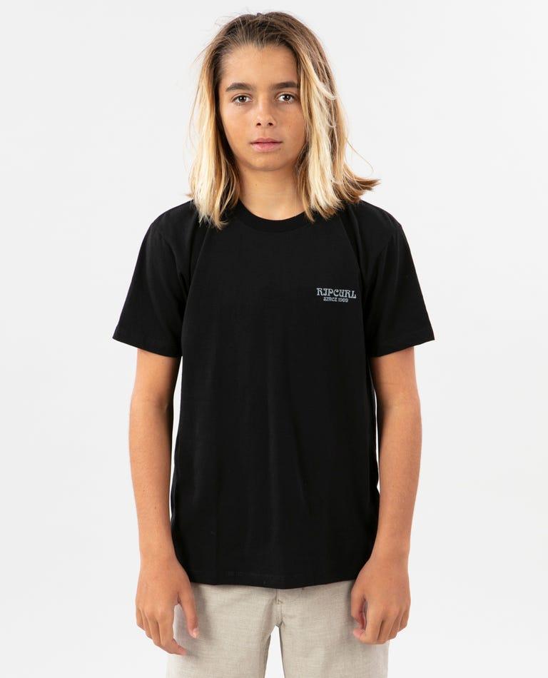 Boys Outside Premium Tee in Black