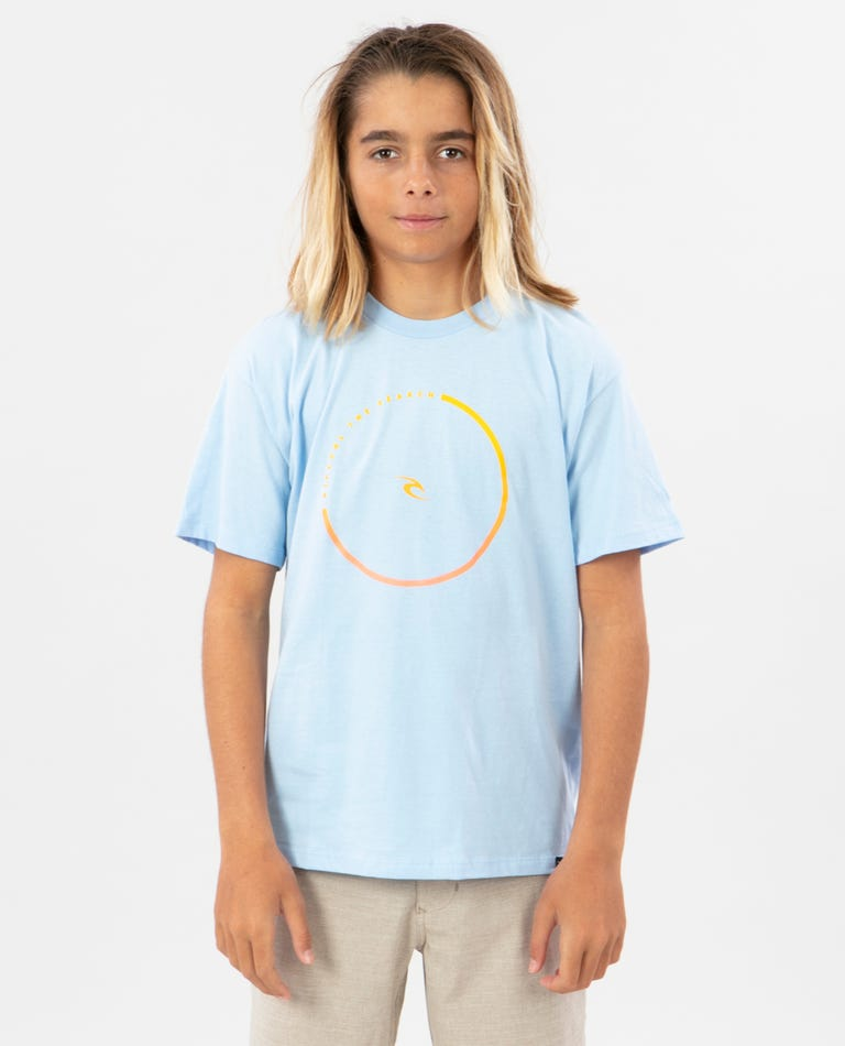 Boys Formula Premium Tee in Light Blue