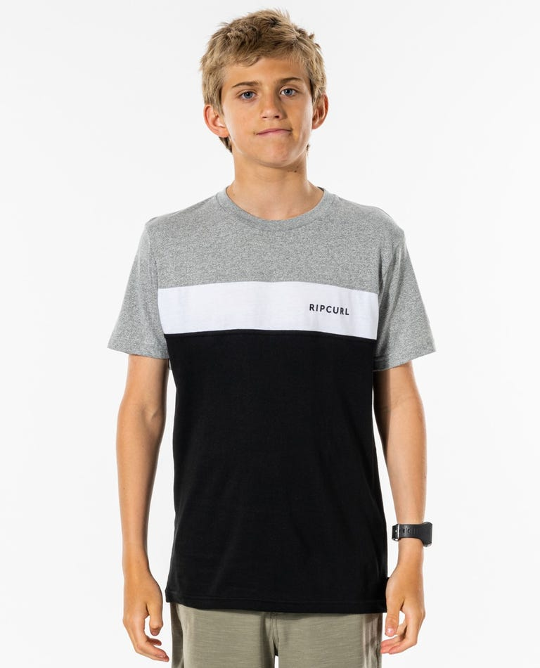 Undertow Panel Tee - Boys (8-16 years) in Black