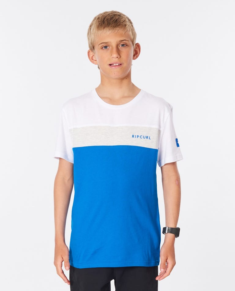 Undertow Panel Tee - Boys (8-16 years) in Electric Blue