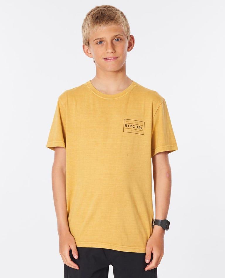 Driven Box Tee Boys (8-16 years) in Mustard