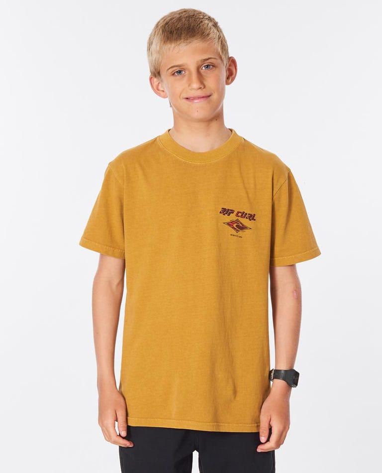 Fadeout Swirl Tee Boys (8-16 years) in Mustard