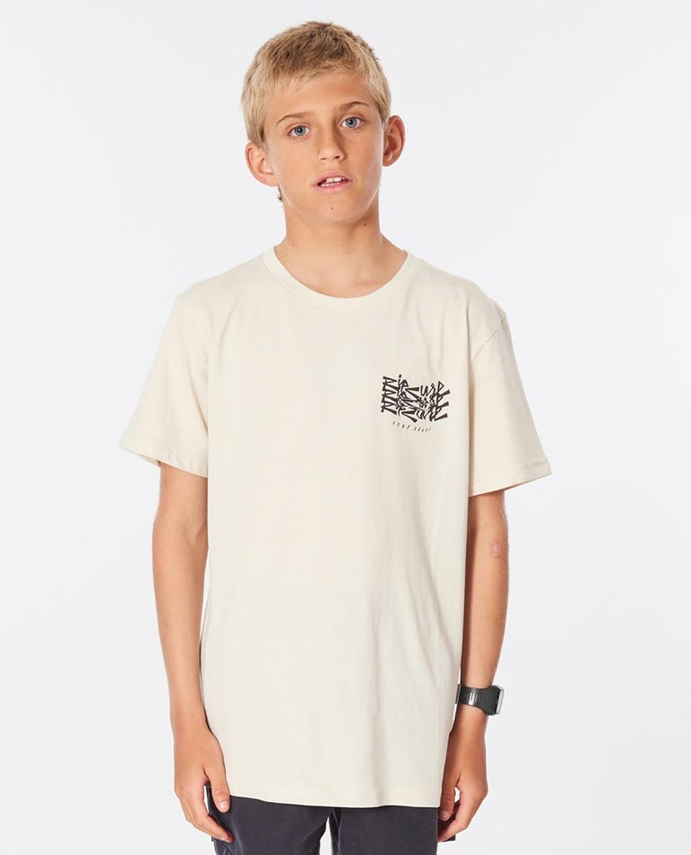Surf Heads Tee Boys (8-16 years) in Bone