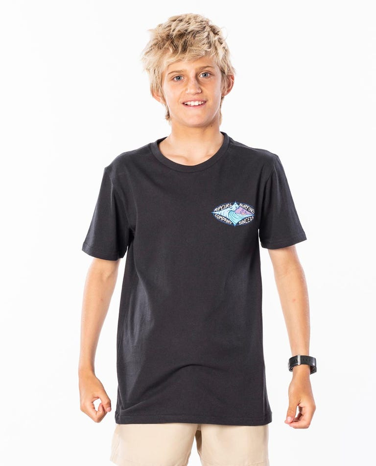 Oasis Tee Boys (8-16 years) in Washed Black