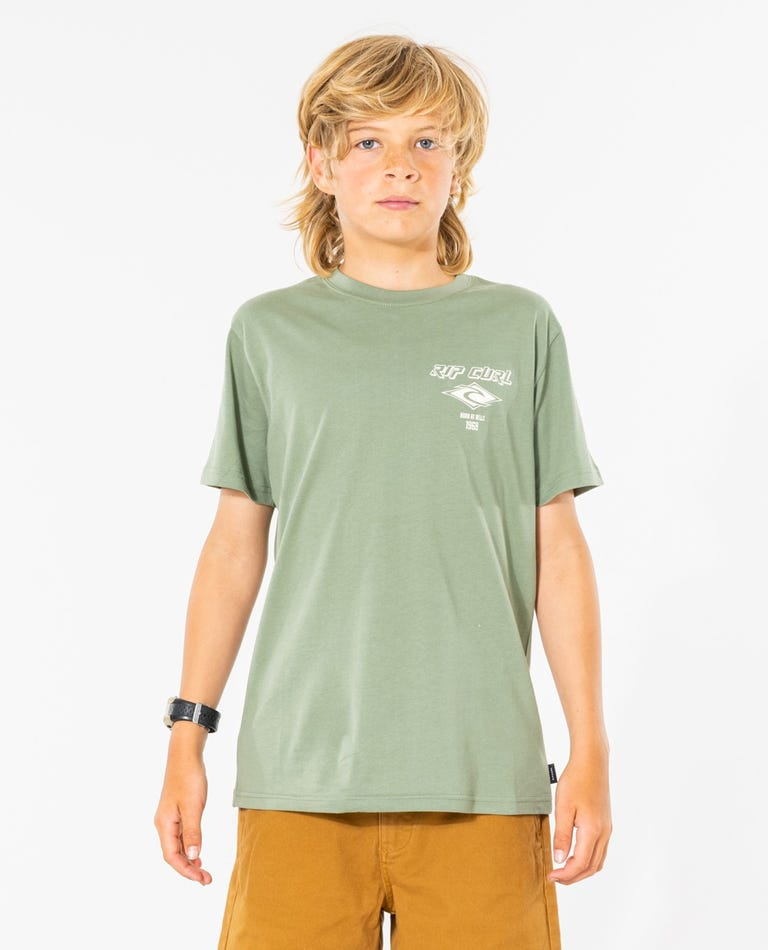 Fadeout Essential Tee - Boys (8 - 16 years) in Washed Clover