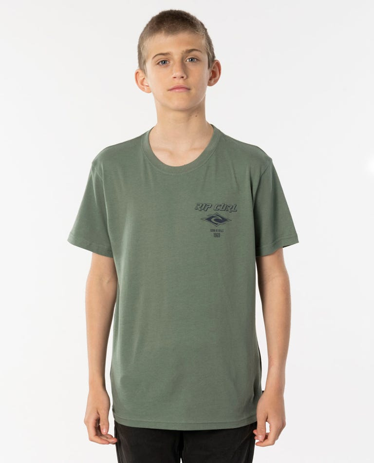 Fadeout Essential Tee - Boys (8 - 16 years) in Mid Green