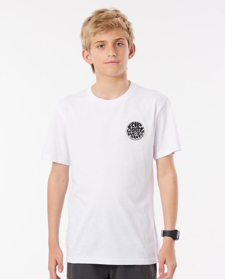 Wetty Essential Tee - Boys (8 - 16 years) in White