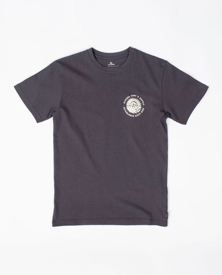 Sunset Tee - Boys (8 - 16 years) in Washed Black