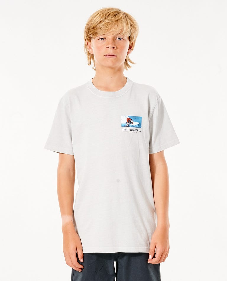 Re-Issue Gallery Tee - Boys (8 - 16 years) in Cool Grey