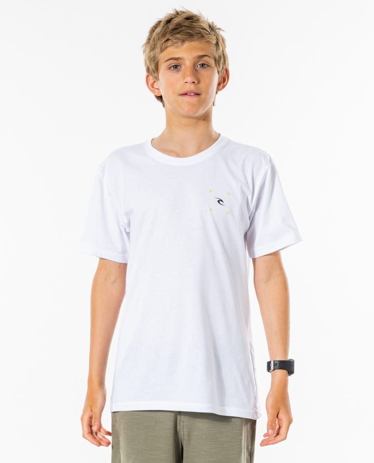 Vaporcool Corp Tee - Boys (8-16 years) in White