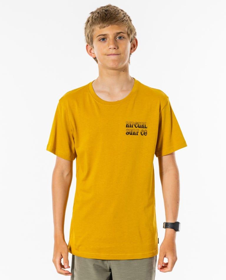 Coil Tee - Boys (8-16 years) in Mustard