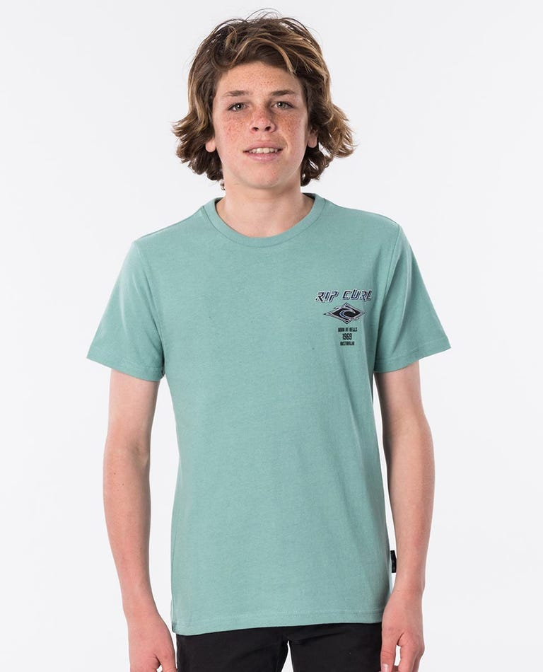 Fadeout Tie Dye Short Sleeve Tee - Boys in Green Haze