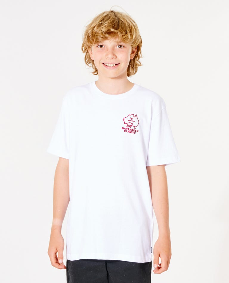 Narrabeen Classic Tee - Boys (8 - 16 years)  in White
