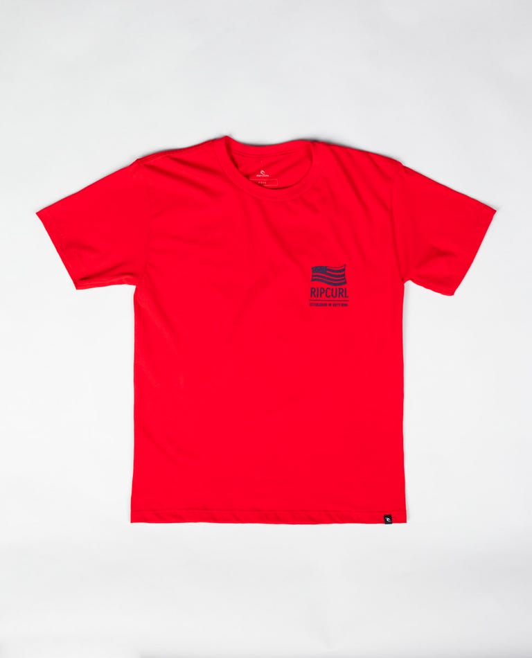 Boys Freedom Pop Premium Tee in Red