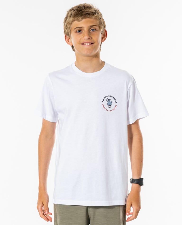 Mr Wavey Tee - Boys (8-16 years) in White