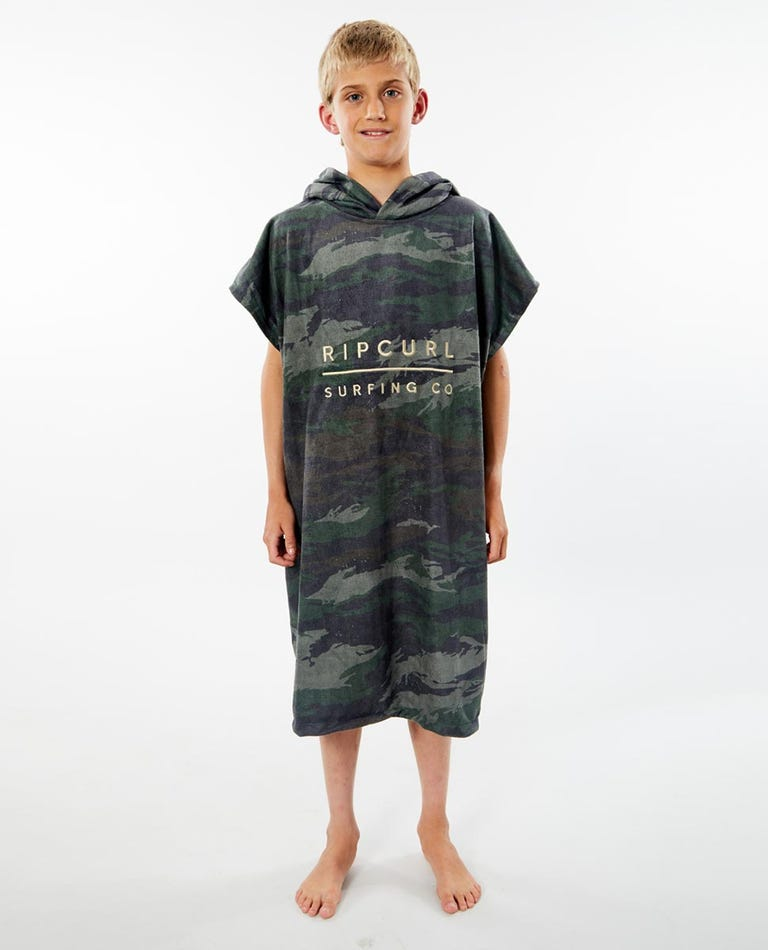 Adjust Hooded Towel Boys (8-16 years) in Green