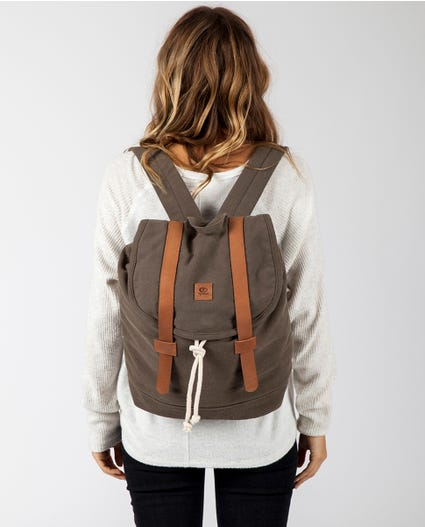 Threads Canvas Backpack in Olive