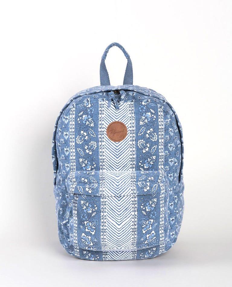 Navy Beach Backpack in Slate Blue