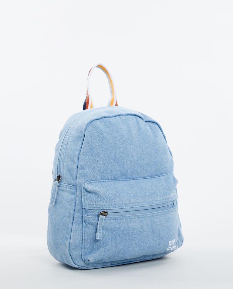 Golden Days Denim 10L Mini Backpack in Light Blue