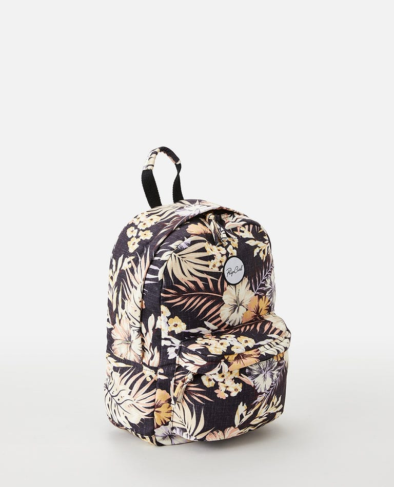 Canvas 18L Mixed Backpack in Black